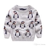 Boys Penguin Design Sweater Kids Pullover